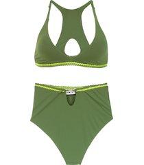 amir slama hot pants bikini - green