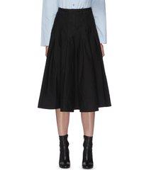 'dacia gassa' pleat cotton midi skirt