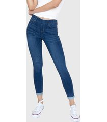 jeans leggings tiro medio charlotte azul racaventura