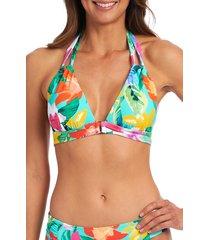 la blanca tropea halter bikini top, size 14 in aquamarine at nordstrom