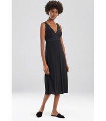 natori zen floral nightgown with lace, women's, black, size xs natori