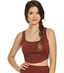 prana women's becksa bralette - maple heather small cotton shirt