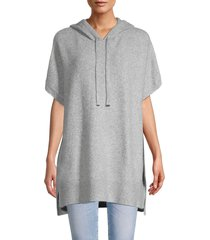 calvin klein women's hooded poncho sweater - black - size xs