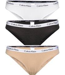 bikini 3pk trosa brief tanga svart calvin klein