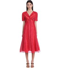 cult gaia odeya dress in red linen