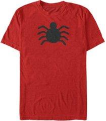 marvel men's classic spider-man old school spider chest logo, short sleeve t-shirt