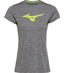 core graphic rb tee t-shirts & tops short-sleeved grå mizuno