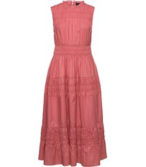 dress cassiopeia knälång klänning rosa lindex