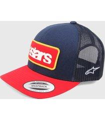 gorra azul navy-rojo alpinestars