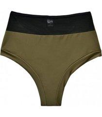 bikini calzón pin up con transparencia verde samia