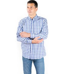 camisa celeste pato pampa corte basico cuadros abc