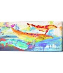 "metaverse oceaninc divinities by kelly parr canvas art, 32"" x 16"""