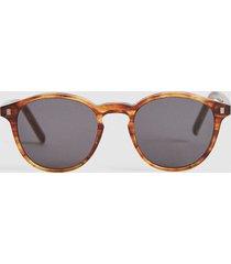 reiss nelson - monokel eyewear round sunglasses in amber, mens