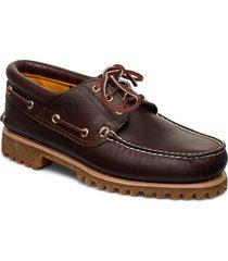 authentics 3 eye classic lug båtskor skor brun timberland