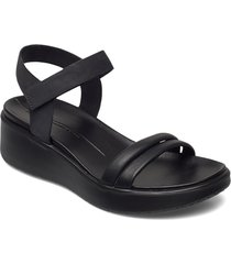 flowt wedge lx w shoes summer shoes flat sandals svart ecco