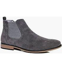 faux suede chelsea boots