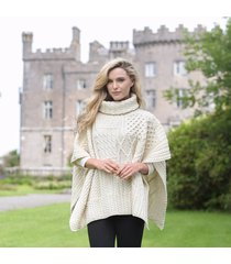 merino wool ladies cowl cape cream