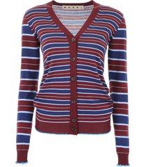 marni striped cardigan