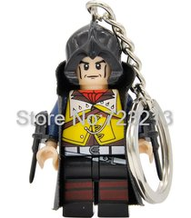 sa 1 pc dorian assassin's creed keychain single sale key chain minifigure blocks
