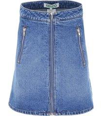 kenzo zipped skirt