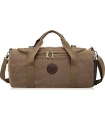 borsa da viaggio traspirante della tela di canapa della borsa dell'annata borsa da viaggio di grande capacità per gli uomini