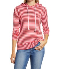 women's 1901 drawstring cotton modal hoodie, size xx-large - red