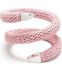bottega veneta crochet cuff bracelet - pink