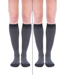 women's belly bandit 2-pack compression socks, size 1 - grey