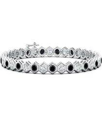 natori indochine alternate black diamond tennis bracelet, women's natori