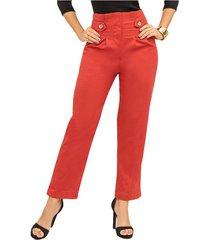 pantalón cynthia rojo para mujer croydon