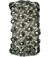 style & co silver-tone beaded stretch bracelet, created for macy's