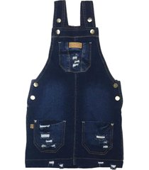salopete destroyed jeans pull-ga azul