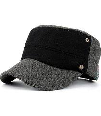 cappelli snapback regolabili antivento per cappello piatto in lana patchwork da uomo