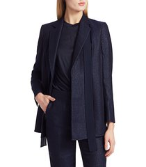 akris punto women's giustina glitter jacket - dark denim - size 4