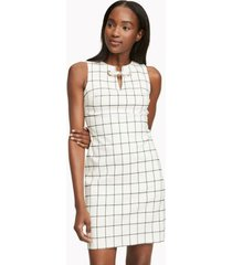 tommy hilfiger women's essential sleeveless check dress black / cream - 2