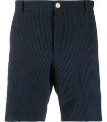 thom browne rwb seersucker 18cm shorts - blue