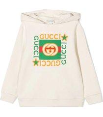 gucci white cotton hoodie