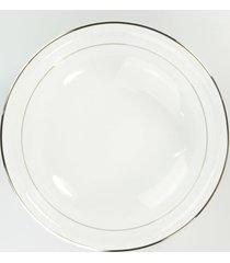 saladeira 24 cm porcelana schmidt - dec. renda branca - multicolorido - dafiti