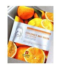 amaro feminino leaders insolution coconut bio mask - 1 máscara facial, orange