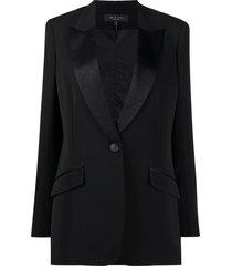 rag & bone stain panel blazer - black