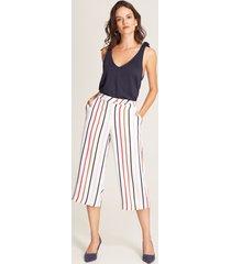 pantalón culotte rayas blanco 4