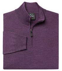 traveler collection merino wool quarter zip mock-neck men's sweater - big & tall
