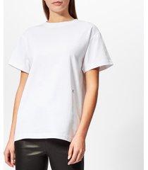 helmut lang women's hl logo t-shirt military - white - l - white
