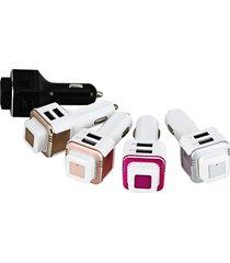 audifonos bluetooth, tl20 audifonos bluetooth manos libres  v4.0 auricular auricular inalámbrico con potente purificación barra de oxígeno del coche dual usb adaptador de cargador rápido (rosa de oro)