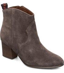 boots shoes boots ankle boots ankle boots with heel grå tamaris