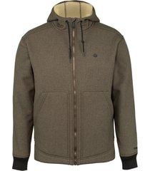 wolverine men's nation jacket bison heather, size l