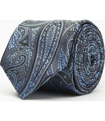 krawat paisley niebieski 102