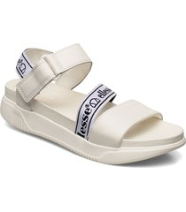 el denso strap wht/blk shoes summer shoes flat sandals vit ellesse