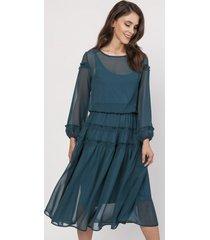 sukienka szyfonowa midi