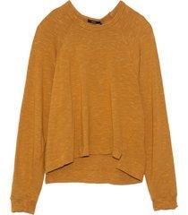 slub rib raglan sweatshirt in mustard seed